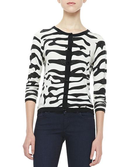 Knit Zebra Cardigan