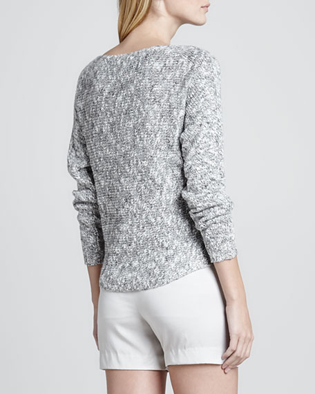 Bateau Textured Knit Sweater