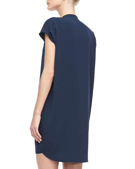 Cap-Sleeve Loose Dress, Coastal