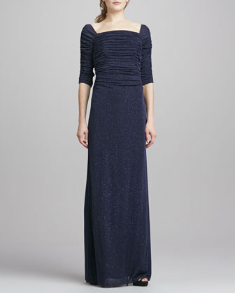 Sale alerts for Laundry by Shelli Segal Off-the-Shoulder Ruched Gown - Covvet
