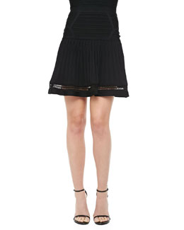 Herve Leger Drop-Waist Bandage Skirt