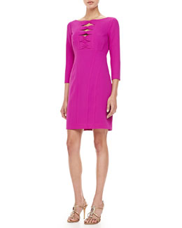 Nanette Lepore On My Mind Bow-Front Dress