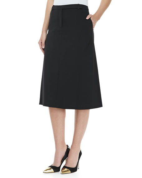 Stretch Wool Trouser Skirt