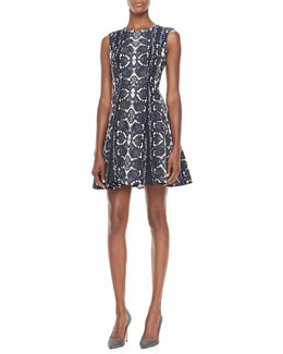 Nanette Lepore Love Bites Snake-Print Dress