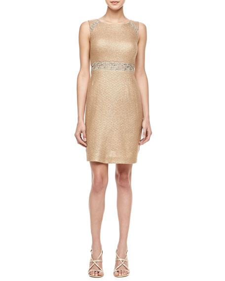 Lace Inset Waist Cocktail Dress