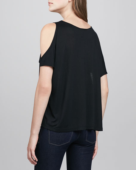 Open-Shoulder Jersey Tee
