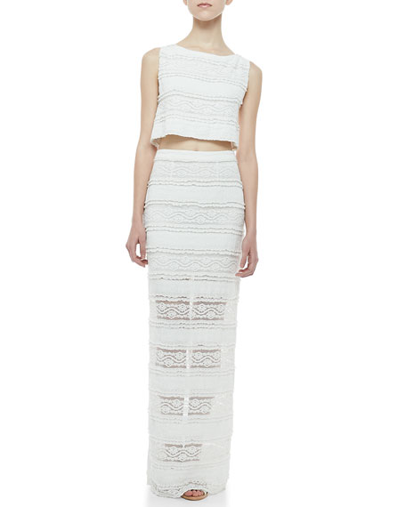 Ettley Tiered Lace Maxi Skirt