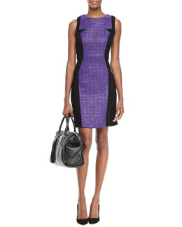 Milly Two-Tone Tweed Dress