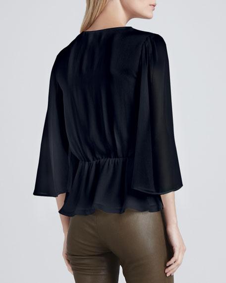 Greer Bell-Sleeve Blouse