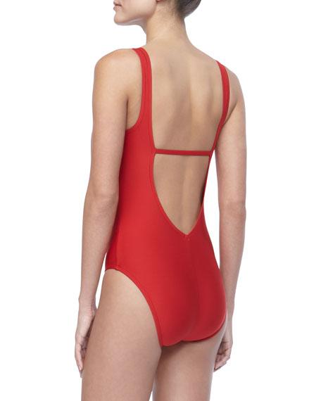 Bright Cowl-Neck Swimsuit