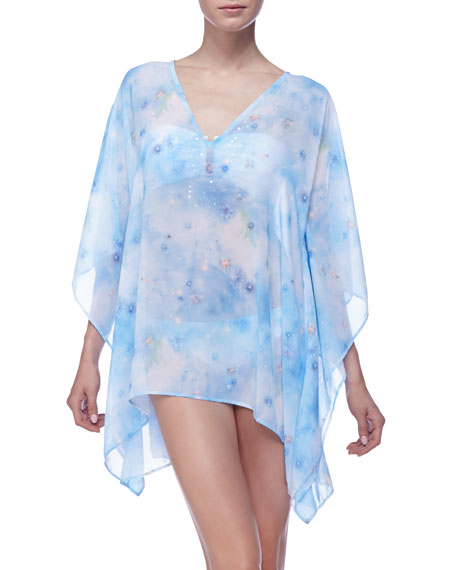 Sheer Print Tunic Coverup
