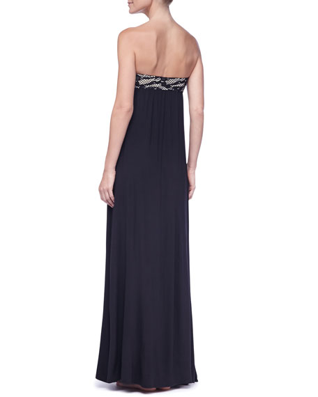 Strapless Empire-Waist Maxi Dress