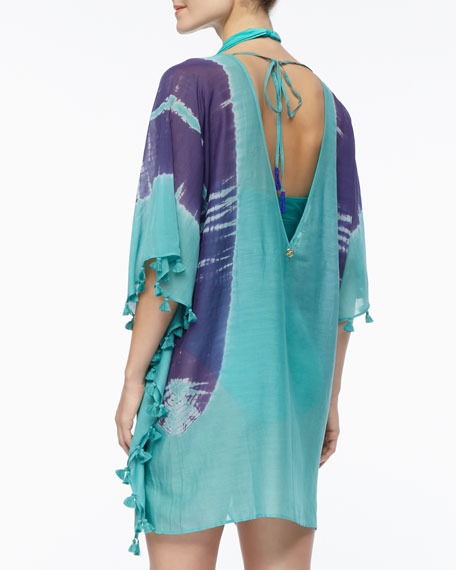 Tassel-Trim Printed Coverup