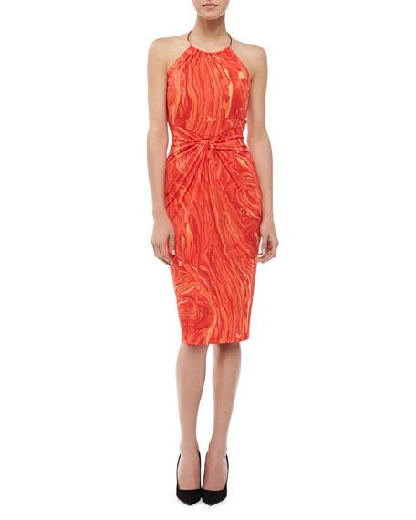 Agate-Print Halter Dress