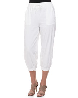 Eileen Fisher Drawstring-Waist Slouchy Capri Pants, Women's