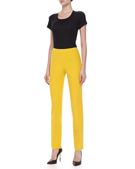 Double-Faced Slim Pants, Sun