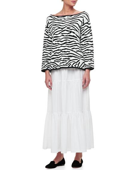 Tiered Long Skirt, Petite
