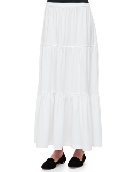 Tiered Long Skirt, Petite