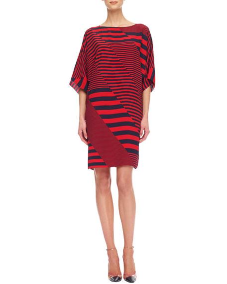 Mix-Stripe Jersey Dress