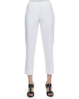 Lafayette 148 New York Metro Stretch Cropped Bleecker Pants