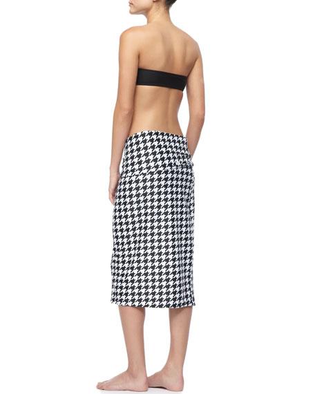 UPF 50 Houndstooth Coverup Skirt