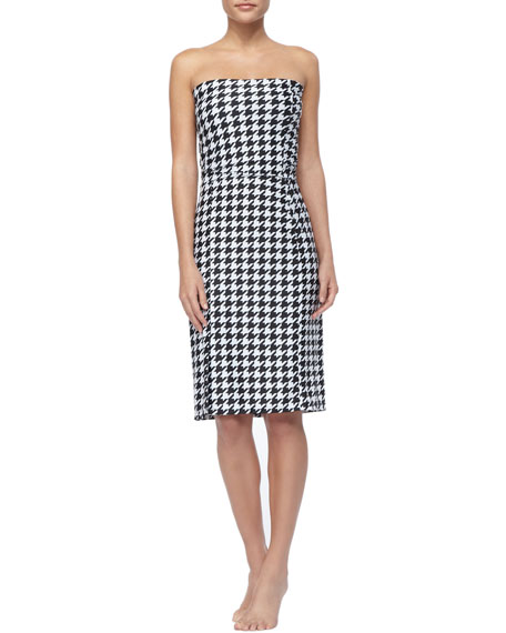 UPF 50 Houndstooth Coverup Skirt