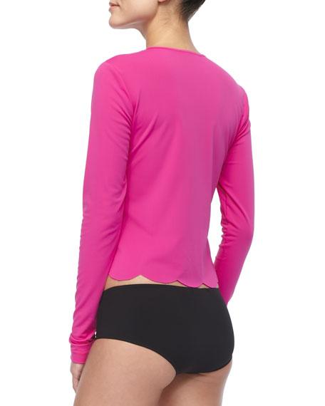 UPF 50 Scalloped Swim T-Shirt Cover Up