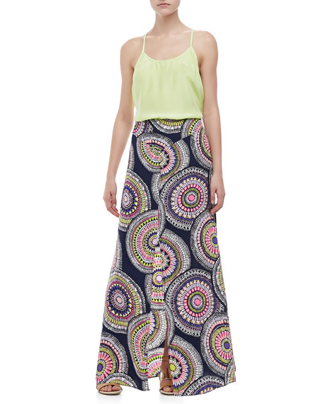Patio Pinwheel-Print Maxi Skirt