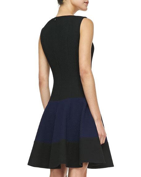 Get Around Colorblock Sleeveless Dress, Navy/Black