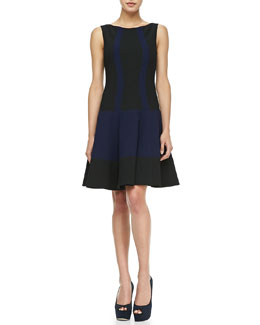 Nanette Lepore Get Around Colorblock Sleeveless Dress, Navy/Black