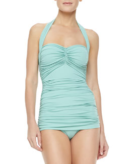 Norma Kamali Bill Mio One-Piece Swimsuit, Pistachio