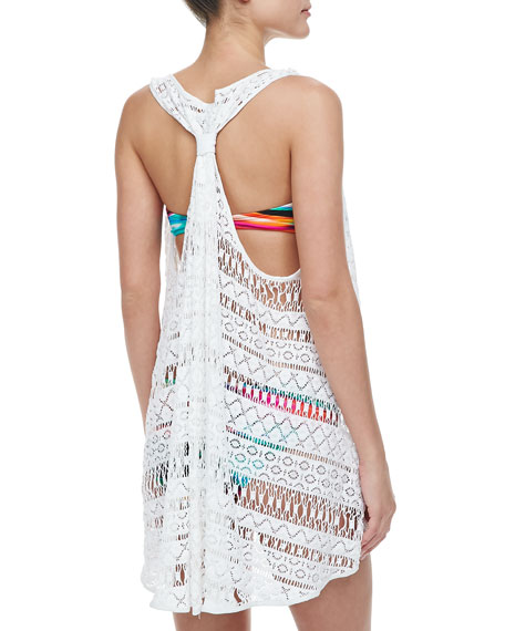 Racerback Drapey Sleeveless Coverup Tunic