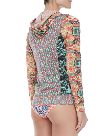 Picaroon Mixed-Print Zip Swim/Surf Jacket