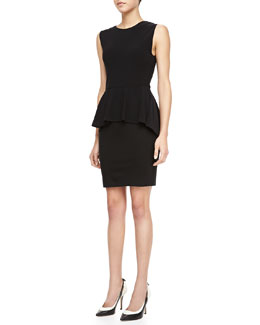 Alice + Olivia Lezley Arched-Peplum Dress