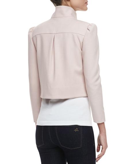 Addison Bow Cropped Jacket, Pink