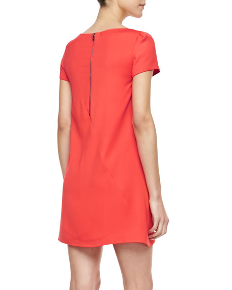 Serena Short-Sleeve Shift Dress