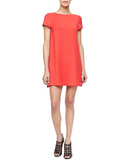 Alice + Olivia Serena Short-Sleeve Shift Dress