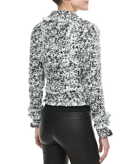 Nadia Fringe-Trim Tweed Jacket
