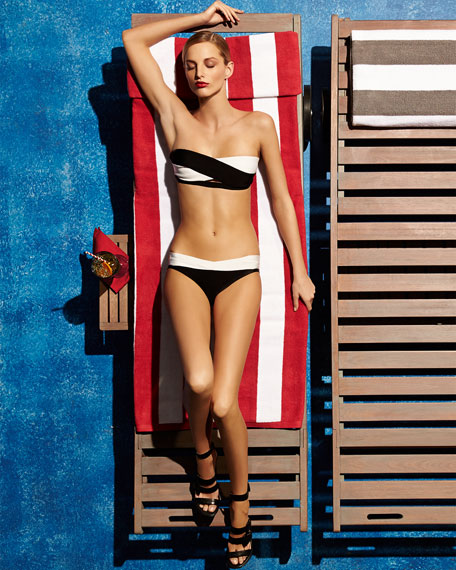 Two-Tone Bandage Two-Piece Swimsuit