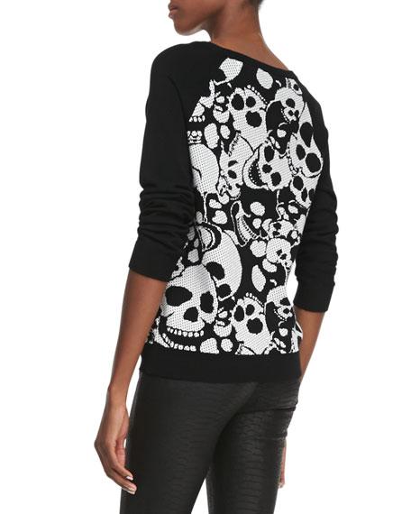 Skull-Jacquard Knit Sweatshirt
