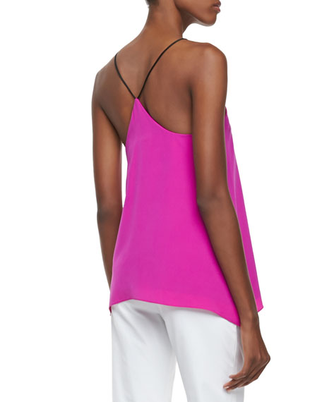 Milly Silk V-Neck Tank
