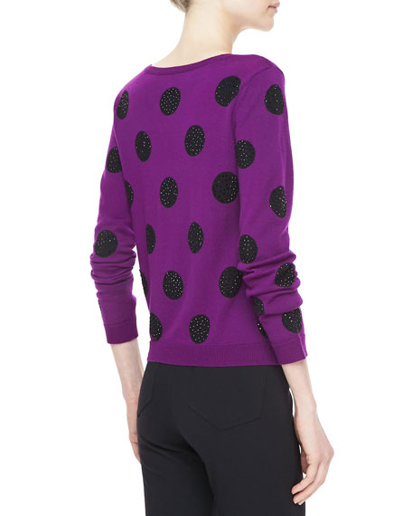 Celyn Sequin/Polka Dot Sweater