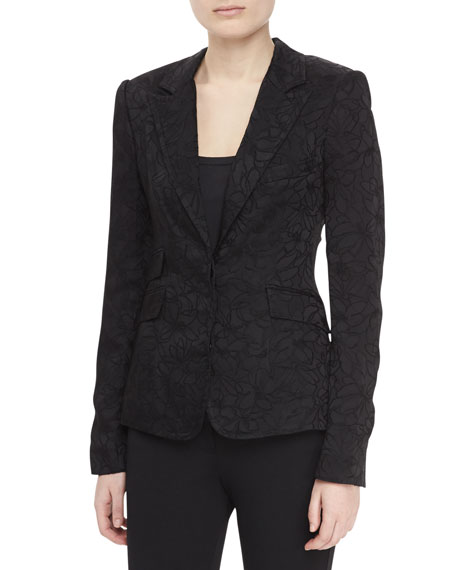 Two-pocket Jacquard Jacket, Black