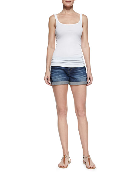 Darla Cuffed Denim Shorts