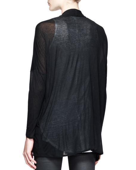 Slack Draped Jersey Cardigan