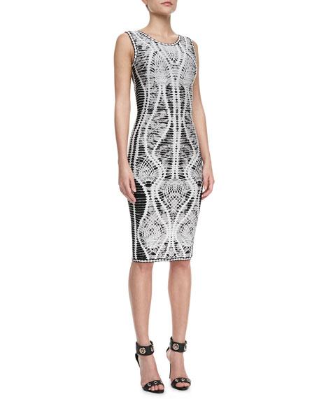 Mix-Pattern Bandage Dress