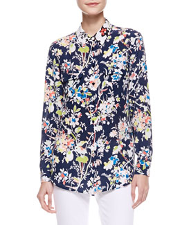 Equipment Signature Floral-Print Blouse