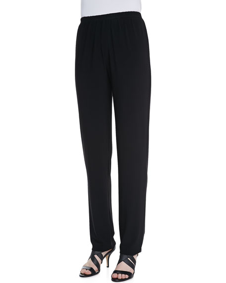 Straight-Leg Knit Pants, Petite