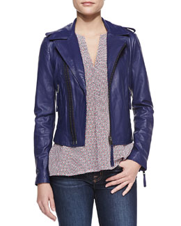 Joie Ailey Washed Leather Jacket