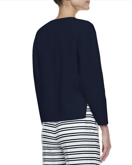 Jill Dropped-Sleeve Sweater